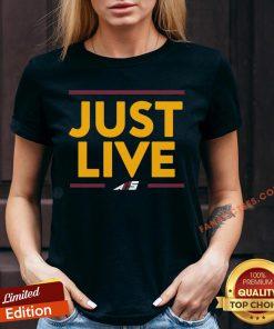 Official Alex Smith Just Live V-neck - Design By Fanatictees.com