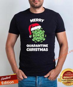 Official Merry Quarantine Christmas Viruscorona Shirt - Design By Fanatictees.com