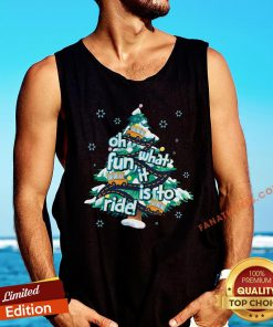 Official Oh What Fun It Is To Ride Tree Christmas Tank Top - Design By Fanatictees.com