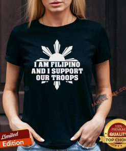 Perfect I Am Filipino And I Support Our Troops V-neck - Design By Fanatictees.com