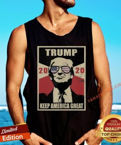 Pretty Donald Trump 2020 Election Maga Vintage Style Novelty Tank Top - Design By Fanatictees.com