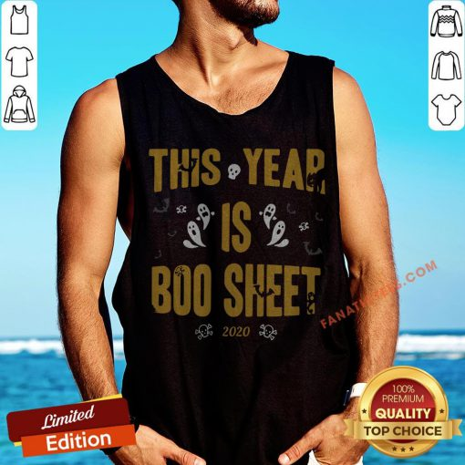 This Year Is Boo Sheet Halloween Tank Top - Design By Fanatictees.com