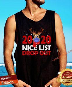 Top Christmas Reindeer 2020 Nice List Dropout Tank Top - Design By Fanatictees.com