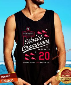 Top It's Time For World Champions Baseball 2020 Los Angeles California Tank Top - Design By Fanatictees.com