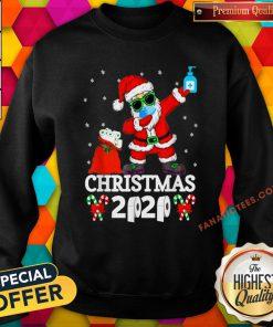 Top Merry Quarantine Christmas 2020 Pajamas Family Xmas Dabbing Sweatshirt - Design By Fanatictees.com