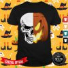 Top Skull And Pumpkin Face Shirt