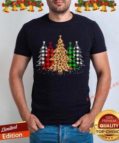 Awesome Buffalo Plaid And Leopard Christmas Tree Shirt