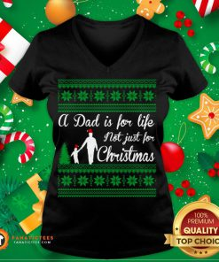 Awesome Dad for Life Not For Christmas Gift Idea V Neck- Design By Fanatictees.com