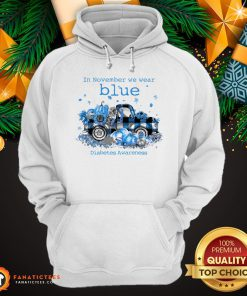Awesome In November We Wear Blue Diabetes Awareness Hoodie- Design By Fanatictees.com