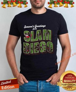 Season's Greetings from Slam Diego Official Christmas Shirt- Design By Fanatictees.com