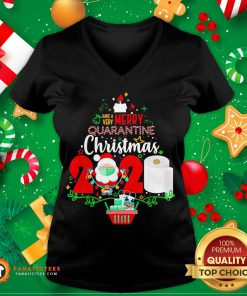 Funny Have Very Merry Quarantine Christmas 2020 Toilet Paper V-neck