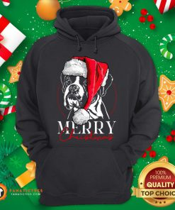 Funny Santa Boxer Dog Merry Christmas Dog Hoodie - Design By Fanatictees.com