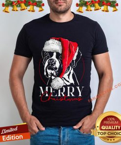 Funny Santa Boxer Dog Merry Christmas Dog T-Shirt - Design By Fanatictees.com