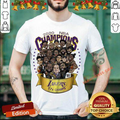 Good 2020 Nba Champions Los Angeles Lakers 17 Champs Cartoon Shirt- Design By Fanatictees.com