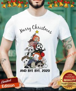 Hot Horror Chibi Character Merry Christmas Tree And Bye Bye 2020 Shirt- Design By Fanatictees.com
