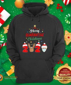 Merry Quarantine Christmas 2020 Hoodie- Design By Fanatictees.com