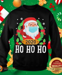 Original Santa Face Mask Funny Christmas Pajama For Family Sweatshirt- Design By Fanatictees.com