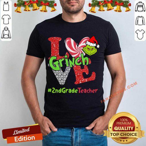 Love Grinch #2ndGradeTeacher Christmas Shirt- Design By Fanatictees.com