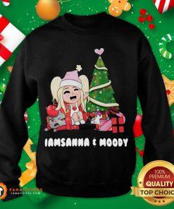 Sanna Iamsanna E Moody Christmas Sweatshirt- Design By Fanatictees.com