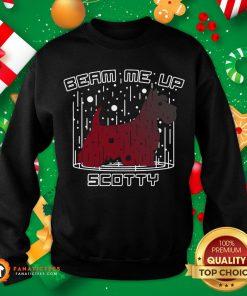 Premium Dog Beam Me Up Scotty Christmas Sweatshirt- Design By Fanatictees.com