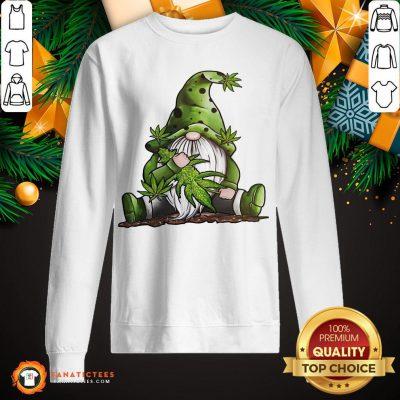 Premium Gnome Hug Cannabis Sweatshirt- Design By Fanatictees.com