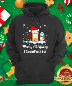 Nurse Santa Vaccine Merry Christmas #Social Worker Hoodie - Design By Fanatictees.com