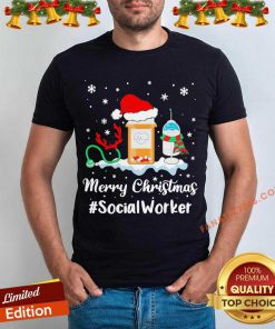 Nurse Santa Vaccine Merry Christmas #Social Worker Shirt - Design By Fanatictees.com