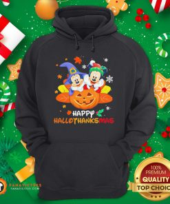 Top Mickey Mouse And Minnie Happy Hallothanksmas Christmas Hoodie- Design By Fanatictees.com