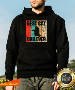 Best Cat Dad Ever Vintage Hoodie - Design By Fanatictees.com