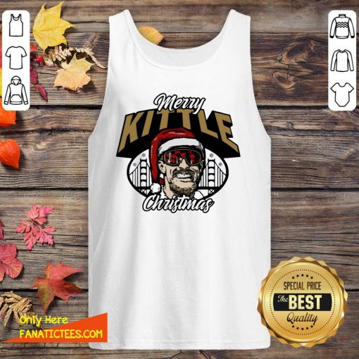 George Kittle Merry Kittle Christmas Tank Top- Design By Fanatictees.com
