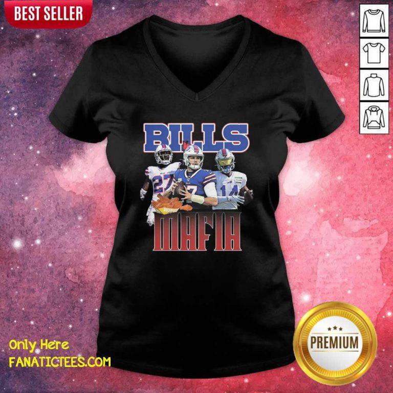 Buffalo Bills Mafia Nfl V-neck- Design By Fanatictees.com