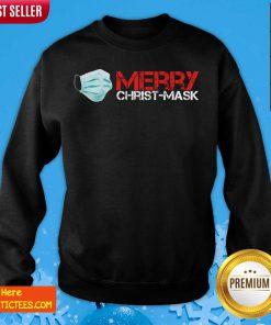 Xmas Merry Christ Mask 2020 Quarantine Christmas Sweatshirt- Design By Fanatictees.com