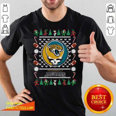 Jacksonville Jaguars Grateful Dead Ugly Christmas Shirt - Design By Fanatictees.com
