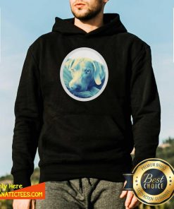 Cailey The Weimaraner At Rest Hoodie- Design By Fanatictees.com