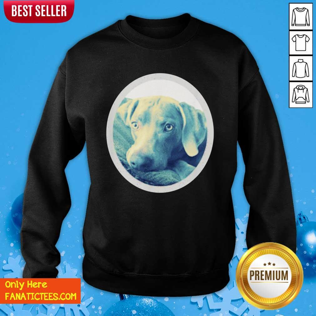 Cailey The Weimaraner At Rest Sweatshirt- Design By Fanatictees.com