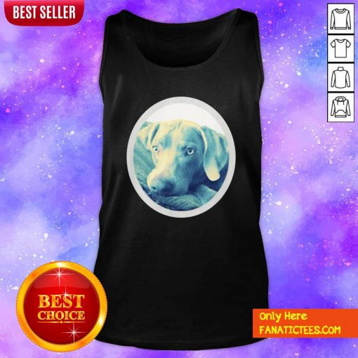 Cailey The Weimaraner At Rest Tank Top- Design By Fanatictees.com