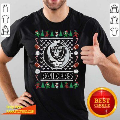 Las Vegas Raiders Grateful Dead Ugly Christmas Shirt - Design By Fanatictees.com