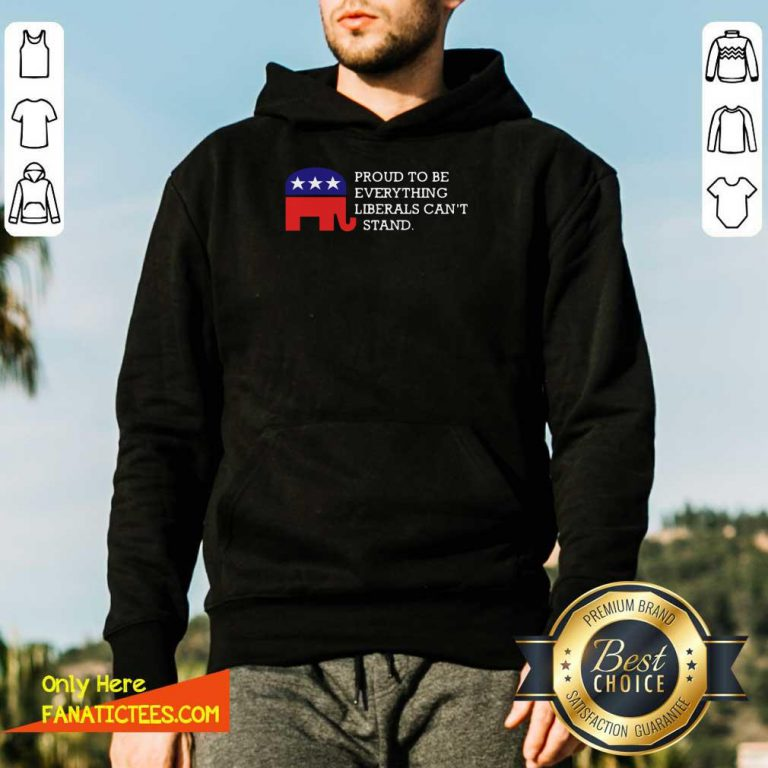 Proud To Be Everything Liberals Can't Stand Elephant Election Hoodie- Design By Fanatictees.com