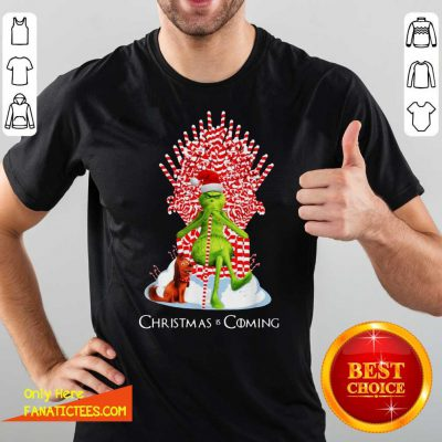 The Grinch And Dog Christmas Is Coming Shirt- Design By Fanatictees.com