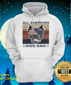 All American Dog Dad Vintage Retro Hoodie - Design By Fanatictees.com