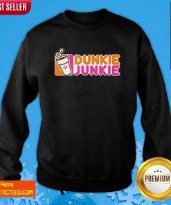 Dunkie Junkie Coffee Lover Sweatshirt- Design By Fanatictees.com