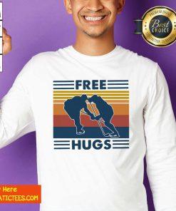 Free Hugs Vintage Retro Sweatshirt- Design By Fanatictees.com