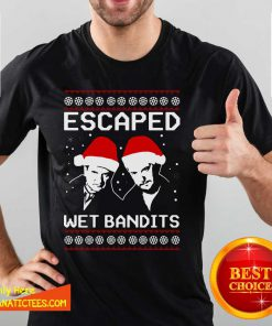 Home Alone Escaped Wet Bandits Ugly Christmas Shirt- Design By Fanatictees.com