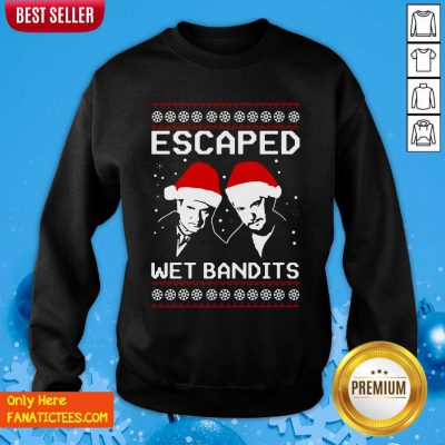 Home Alone Escaped Wet Bandits Ugly Christmas Sweatshirt- Design By Fanatictees.com