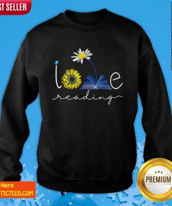 Librarian Love Reading Sweatshirt- Design By Fanatictees.com