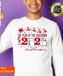 The Year Of The Lockdown 2020 #RegisteredNurse Ugly Christmas Sweatshirt- Design By Fanatictees.com