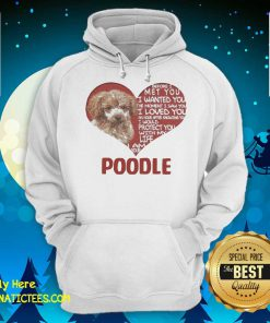 Before I Met You I Wanted You The Moment I Saw You I Loved You I Am Your Poodle Hoodie - Design By Fanatictees.com
