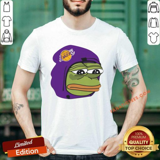Cool Los Angeles Lakers Sad Pepe The Frog Shirt