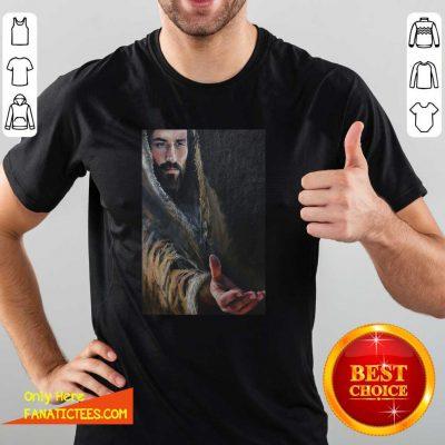 Jesus Reaching Hand Poster Shirt- Design By Fanatictees.com