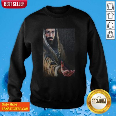 Jesus Reaching Hand Poster Sweatshirt- Design By Fanatictees.com